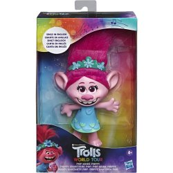 Inglés Trolls World Tour Poppy singing doll