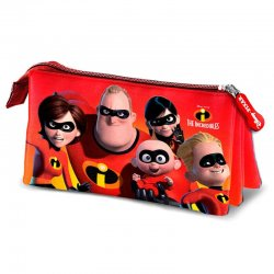 Disney The Incredibles triple pencil case