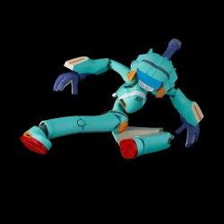 FLCL PVC / Diecast Action Figure Canti Blue Ver. 18 cm