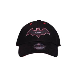 Batman Curved Bill Cap Black & Red