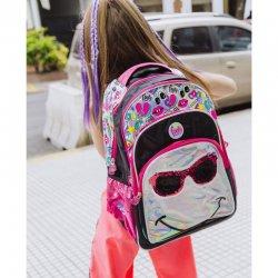 Glasses LED sequins adaptable backpack 45cm