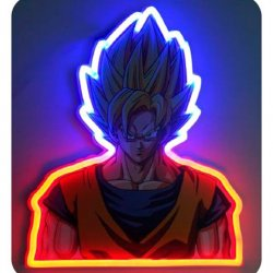 Dragon Ball Z Vegeta mural neon lamp