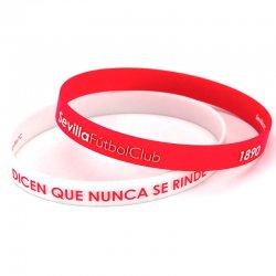 Sevilla FC junior embossed red white bracelet