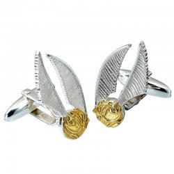Harry Potter Golden Snitch Silver Cufflinks