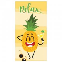 Relax Pineapple microfiber beach towel