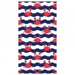 Crabs microfiber beach towel