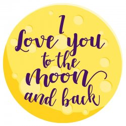 I Love You To The Moon And Back microfiber beach towel round