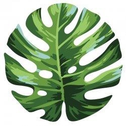 Palm leaf round microfiber beach towel