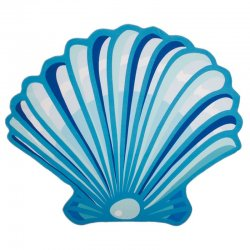 Shell microfiber beach towel round