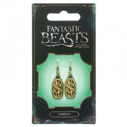Fantastic Beasts Newt Scamander Logo earrings