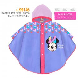 Disney Minnie raincoat EVA