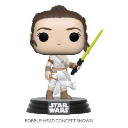 Star Wars Episode IX POP! Movies Vinyl Figure Rey w/ Yellow Saber 9 cm
