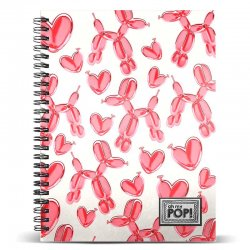 Oh My Pop Globoniche A4 notebook
