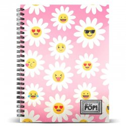 Oh My Pop Happy Flower A4 notebook