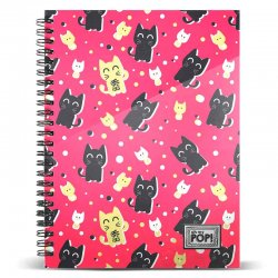 Oh My Pop! Cats squared A4 notebook