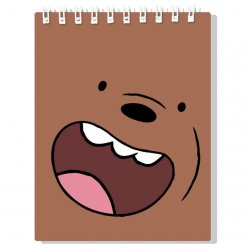 We Bare Bears Brown Bear Notebook