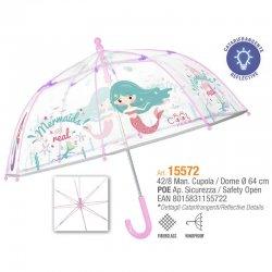Mermaid transparent umbrella 42cm Manual
