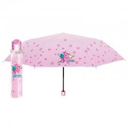 Pink unicorn manually folding umbrella 50cm