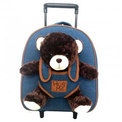 Hug Me Bear plush toy trolley With 33cm
