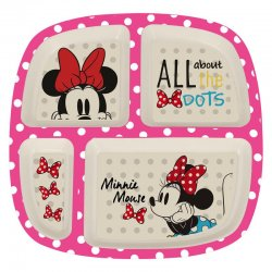 Disney Minnie bamboo plate divided