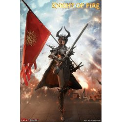 Knight of Fire Action Figure 1/6 Black Edition 30 cm