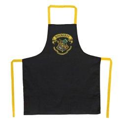 Harry Potter cooking apron Hogwarts Logo Black