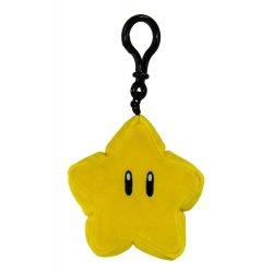 Mario Kart Mocchi-Mocchi Clip On Plush Hanger Super Star 10 cm