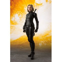 Avengers Infinity War S.H. Figuarts Action Figure Black Widow & Tamashii Effect Explosion 15 cm