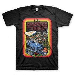 Stranger Things - Retro Poster - Easyfit T-Shirt Black