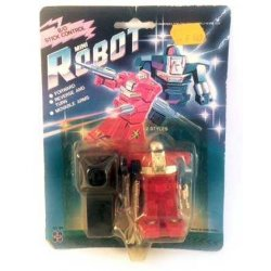 B/O Stick Control Mini Robot - action figures