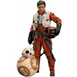 Star Wars Episode VII ARTFX+ Statue 1/10 2-Pack Poe Dameron & BB-8 7 - 18 cm