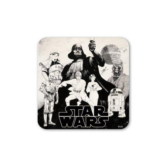 Star Wars - Black And White Coaster