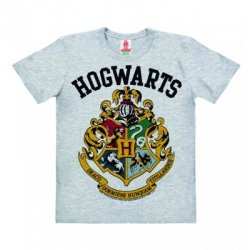 Harry Potter Hogwarts Logo – T-Shirt Kids – Gray
