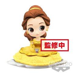 Disney Q Posket SUGIRLY Mini Figure Belle A Normal Color Version 9 cm