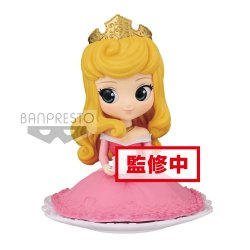 Disney Q Posket SUGIRLY Mini Figure Princess Aurora Normal Color Ver. 9 cm
