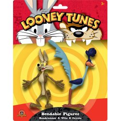 Looney Tunes Bendable Figures 2-Pack Roadrunner & Wile E Coyote 15 cm