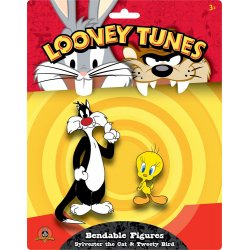 Looney Tunes Bendable Figures 2-Pack Sylvester the Cat & Tweety Bird 6 - 15 cm