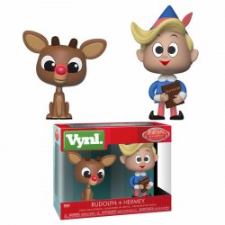 Rudolph the Red-Nosed Reindeer VYNL Vinyl Figures 2-Pack Rudolph & Hermie 10 cm
