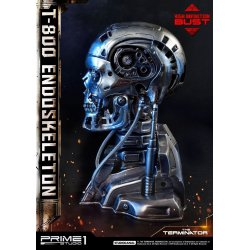 The Terminator High Definition Bust 1/2 T-800 Endoskeleton Head 22 cm