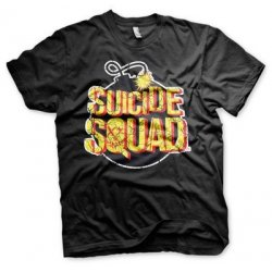 Suicide Squad Bomb Logo T-Shirt (Black) - action figures
