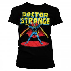 Marvels Doctor Strange Girly Tee (Black)