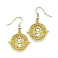 Harry Potter Earrings Time Turner (gold plated)