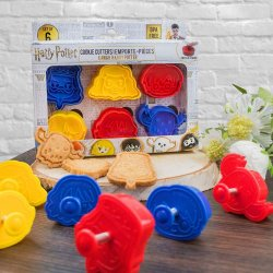 Harry Potter Cookie Cutter / Cookie Stamp 6-Pack Kawaii