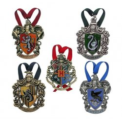 Harry Potter Tree Ornaments Hogwarts 5-Pack