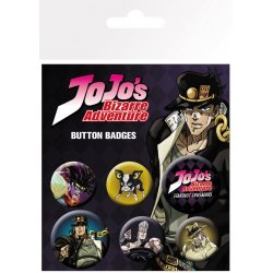 Jojo's Bizarre Adventure Pin Badges 6-Pack Characters