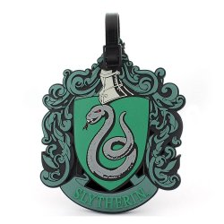 Harry Potter Rubber Luggage Tag Slytherin New Ver.