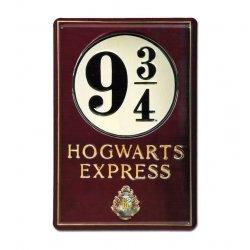 Harry Potter 3D Tin Sign Platform 9 3/4 20 x 30 cm