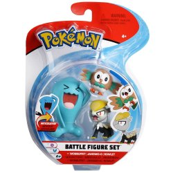 Pokémon Battle Mini Figures 3-Packs - Rowlet, Jangmo-o & Wobbuffet