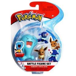 Pokémon Battle Mini Figures 3-Packs - Popplio, Eevee & Wobbuffet
