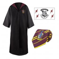 Harry Potter  Robe, Nectie & Tattoo Set Gryffindor